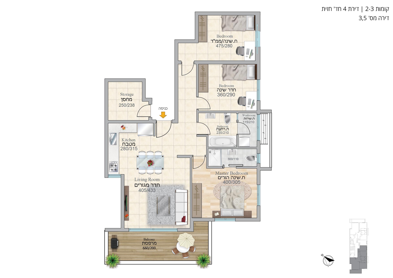 תוכנית הדירה לנכס מספר 5