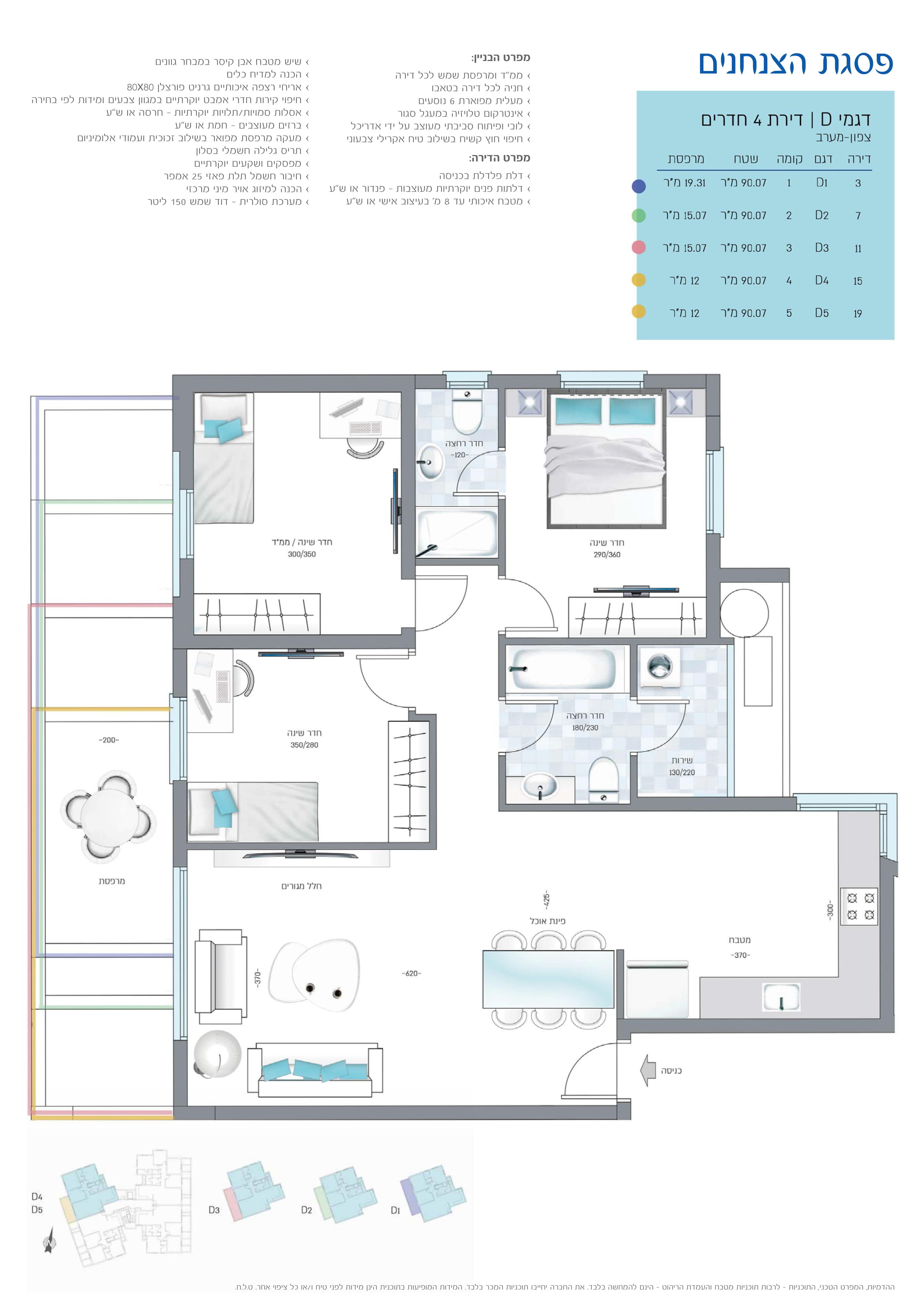 תוכנית הדירה לנכס מספר 14