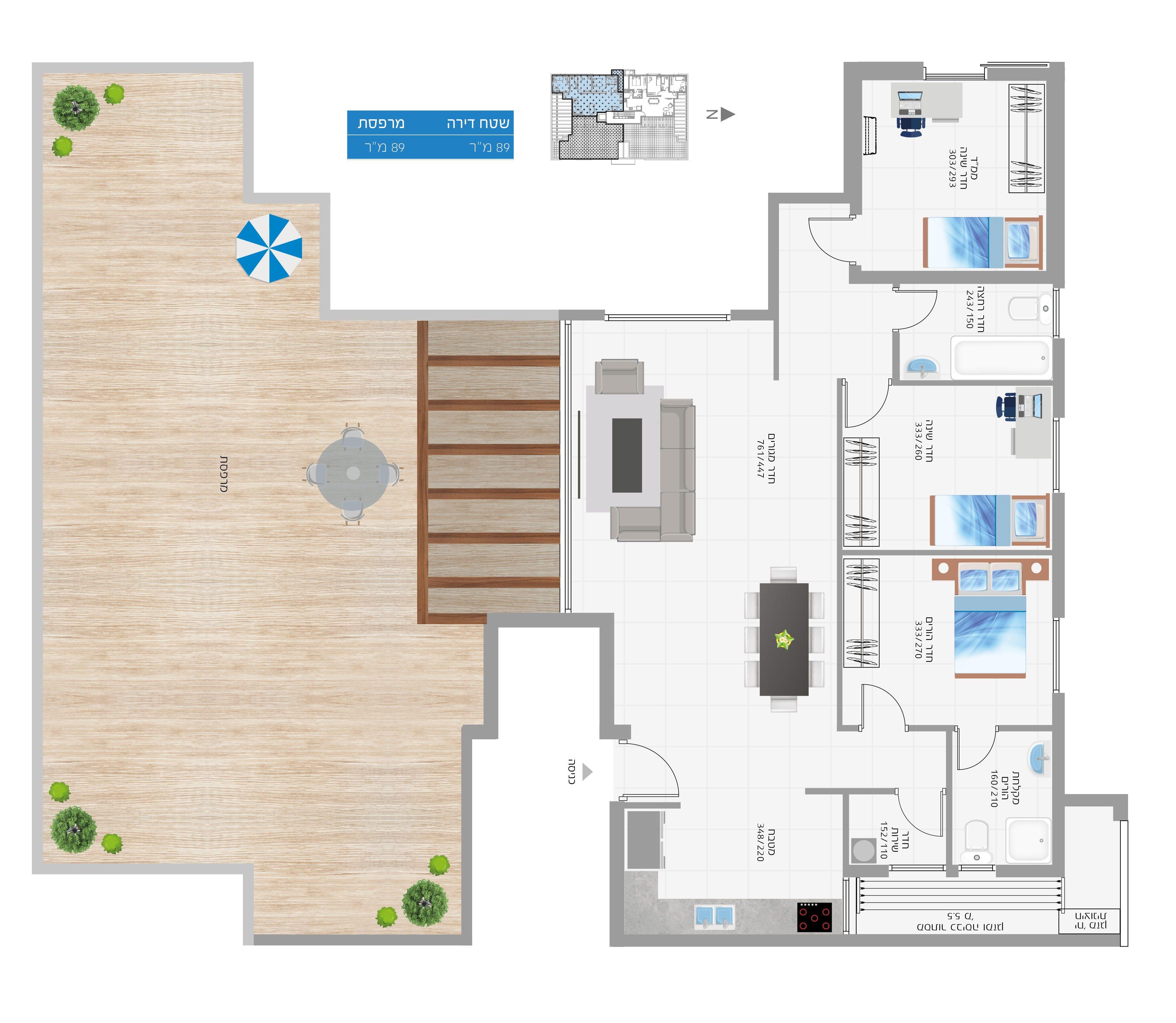 תוכנית הדירה לנכס מספר 25