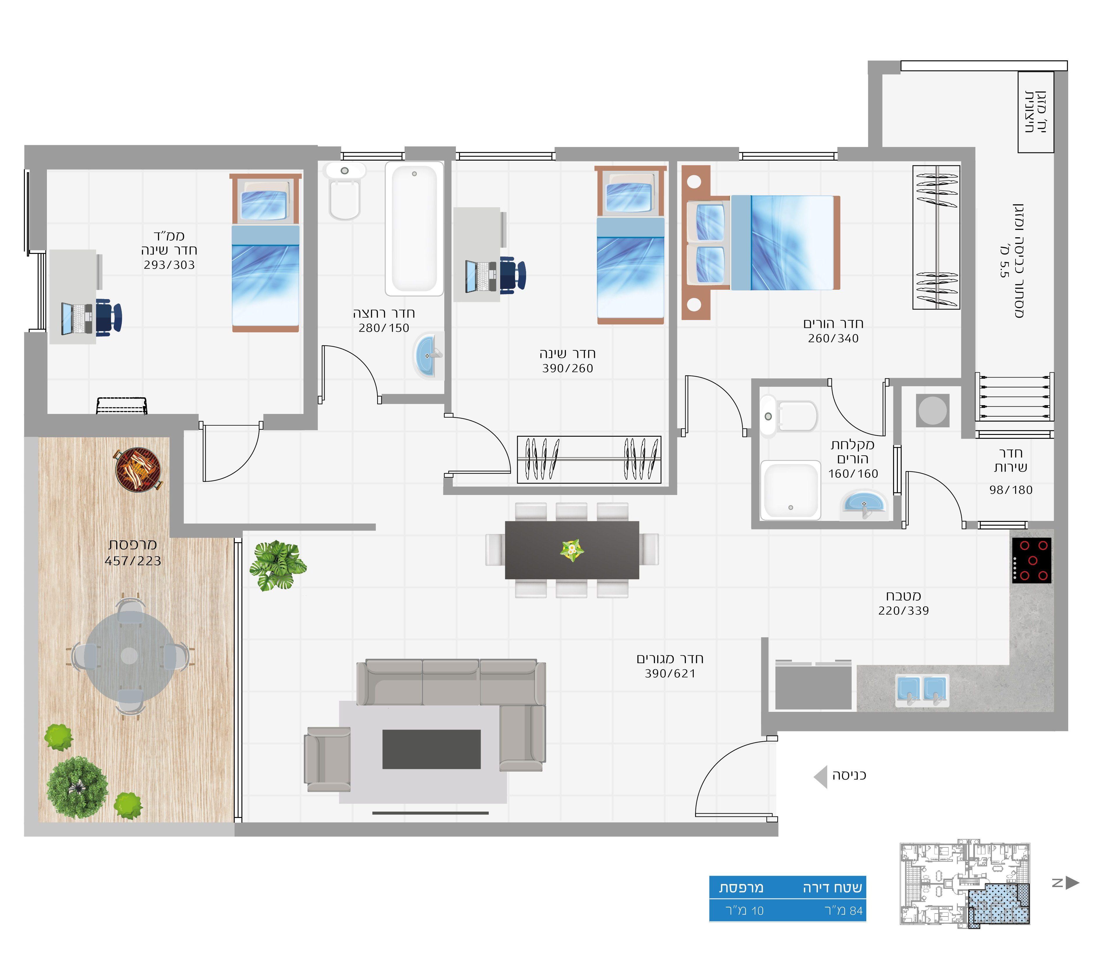 תוכנית הדירה לנכס מספר 18