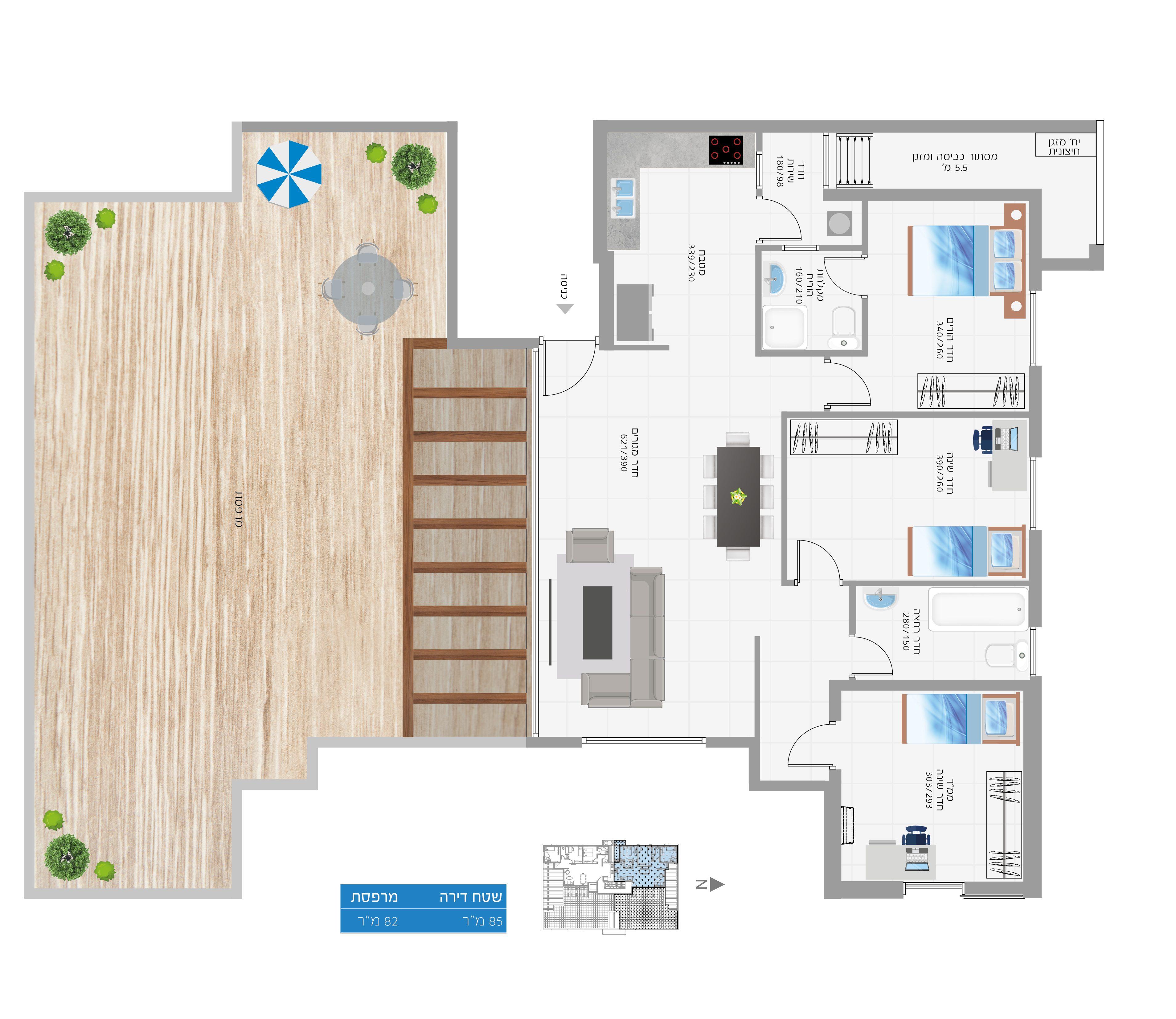תוכנית הדירה לנכס מספר 26