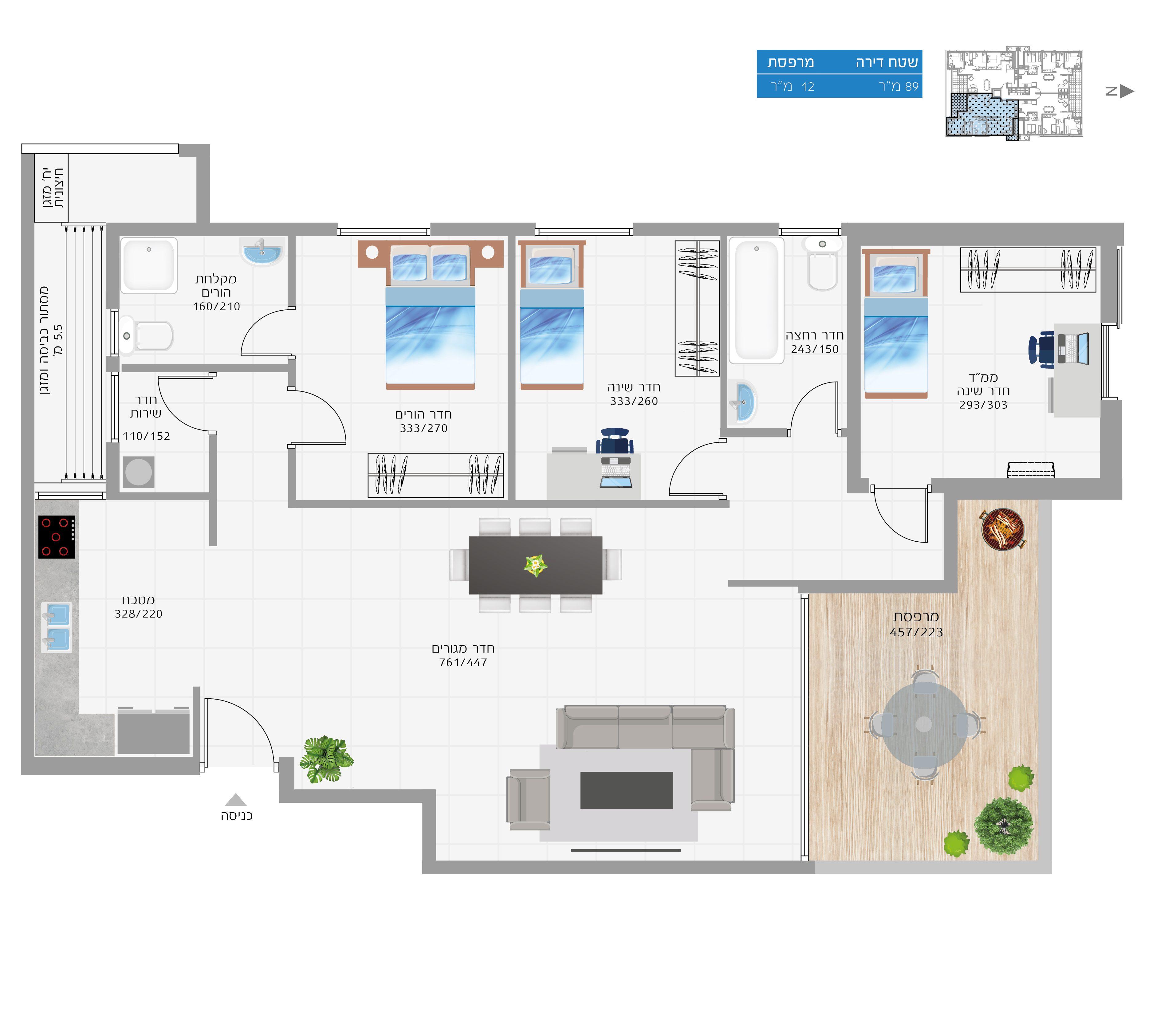 תוכנית הדירה לנכס מספר 19