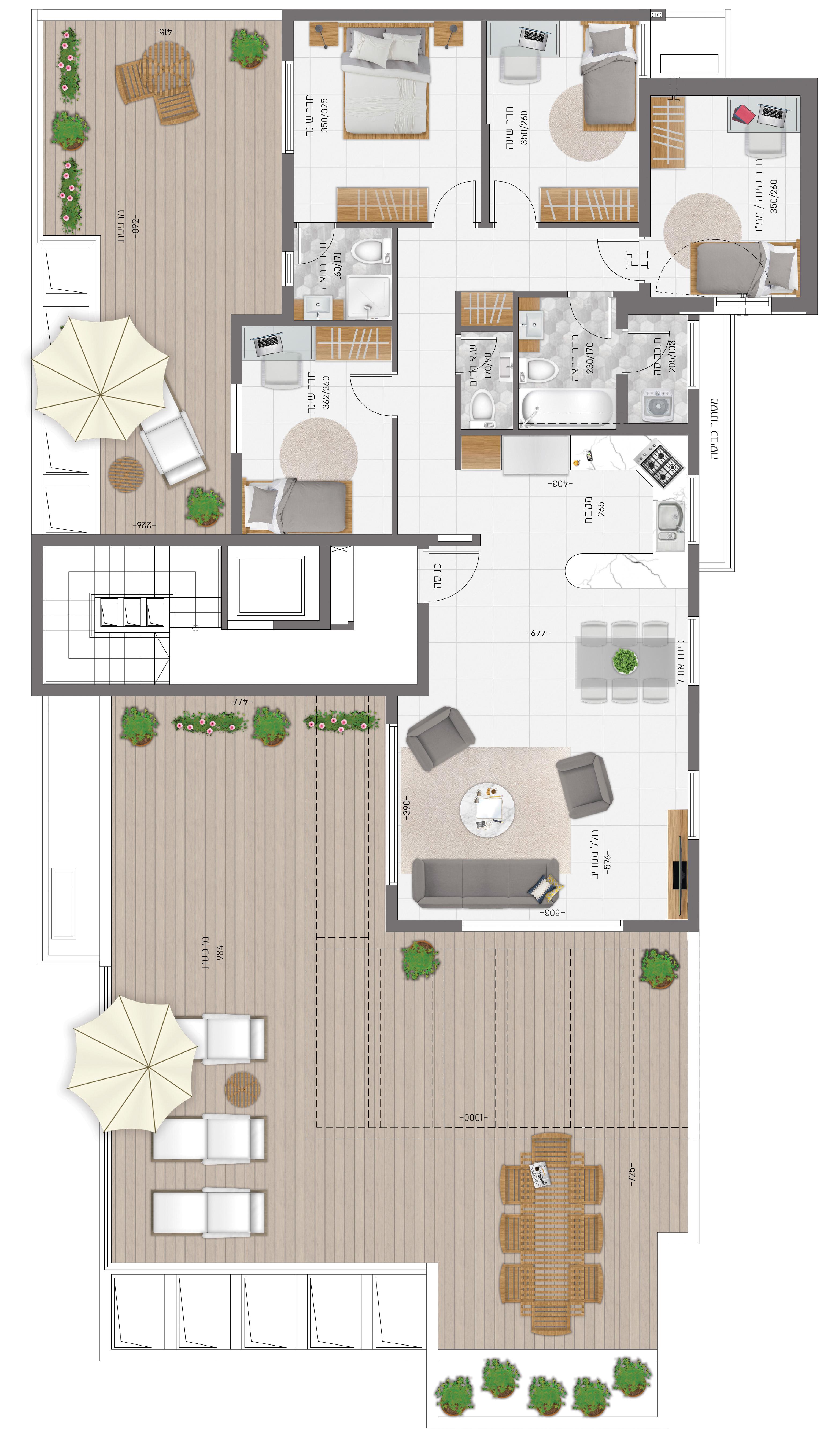 תוכנית הדירה לנכס מספר 13